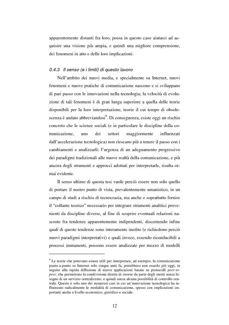 Anteprima della tesi: Google: analisi multi-dimensionale di un motore di ricerca Internet, Pagina 6