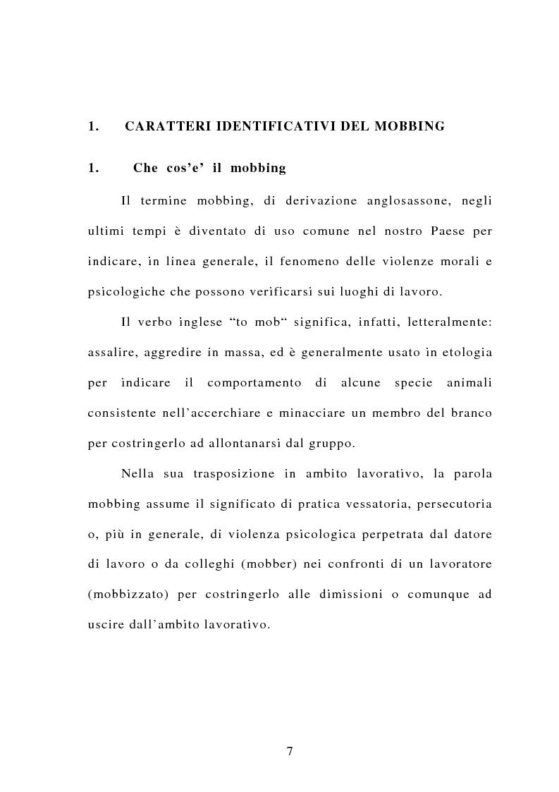 Anteprima della tesi: Il mobbing, Pagina 1