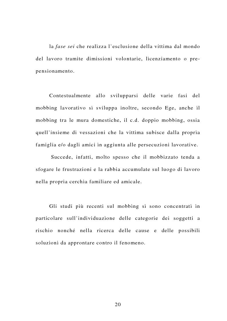 Anteprima della tesi: Il mobbing, Pagina 14
