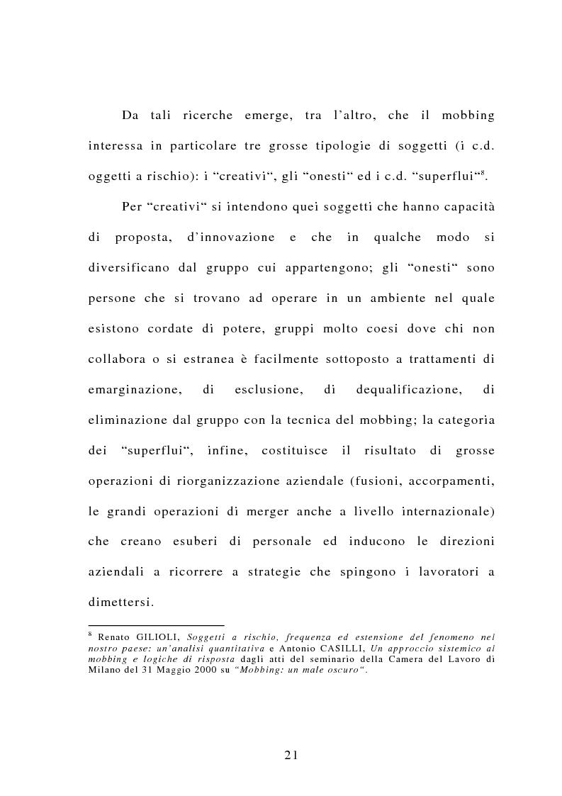 Anteprima della tesi: Il mobbing, Pagina 15