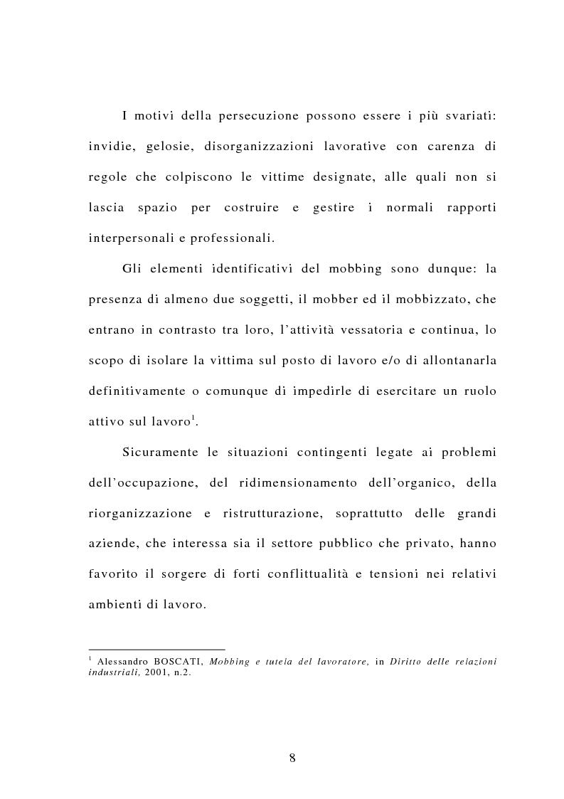 Anteprima della tesi: Il mobbing, Pagina 2