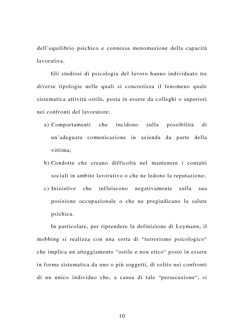 Anteprima della tesi: Il mobbing, Pagina 4
