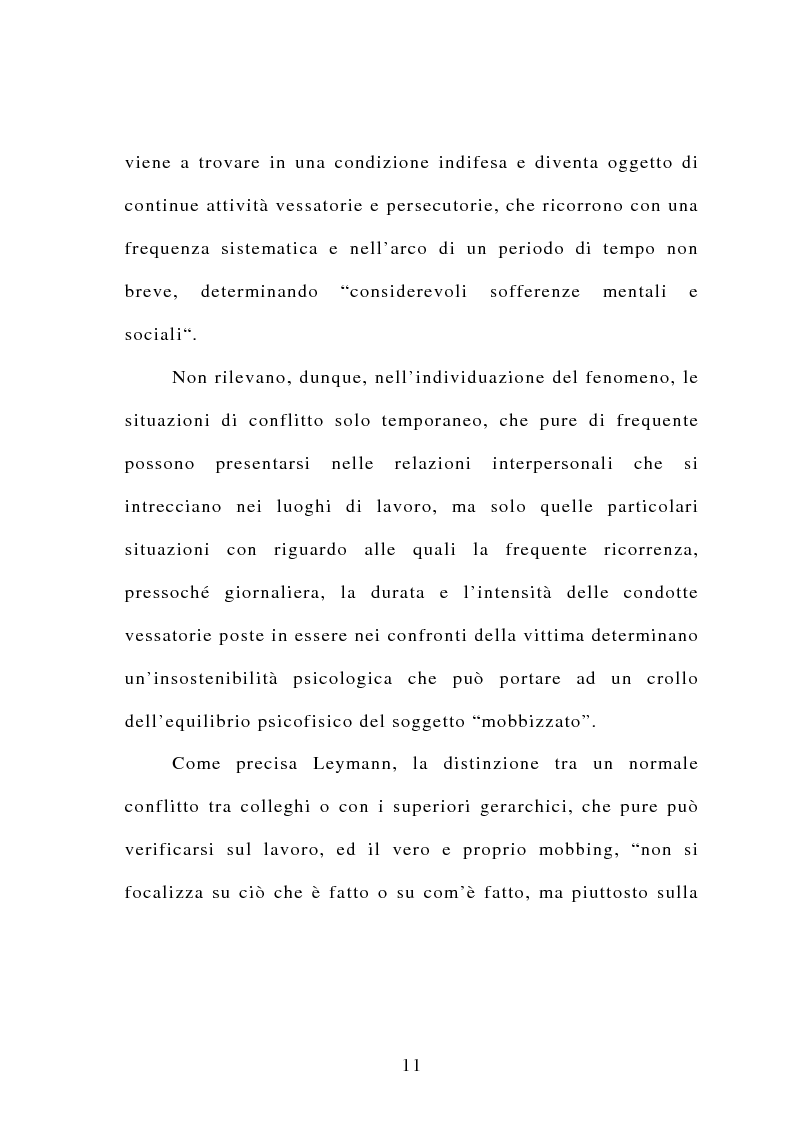 Anteprima della tesi: Il mobbing, Pagina 5