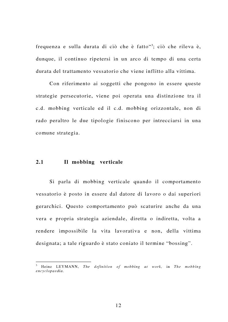 Anteprima della tesi: Il mobbing, Pagina 6
