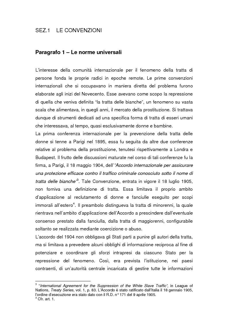 Anteprima della tesi: Il divieto internazionale di tratta degli esseri umani, Pagina 4