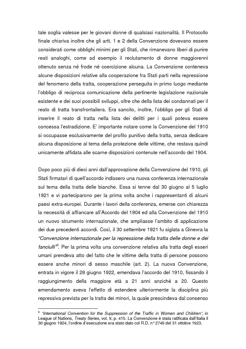 Anteprima della tesi: Il divieto internazionale di tratta degli esseri umani, Pagina 6