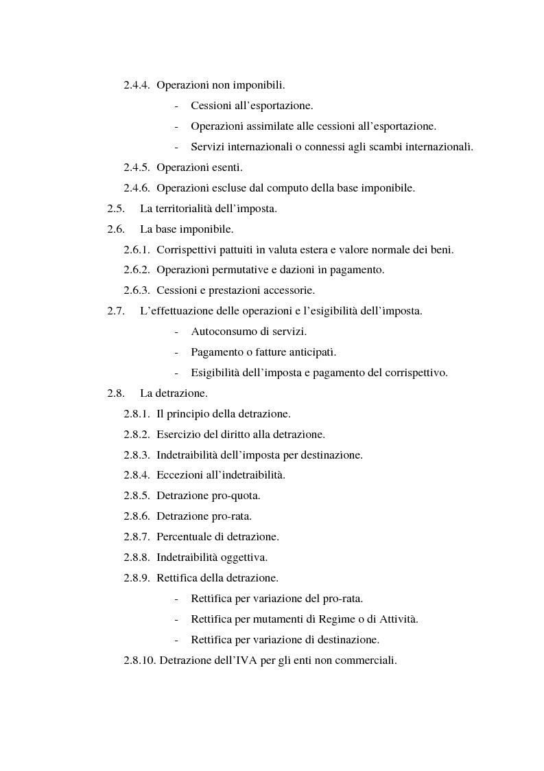 Indice della tesi: L'Iva negli enti locali: il caso del Comune di Ozieri, Pagina 3