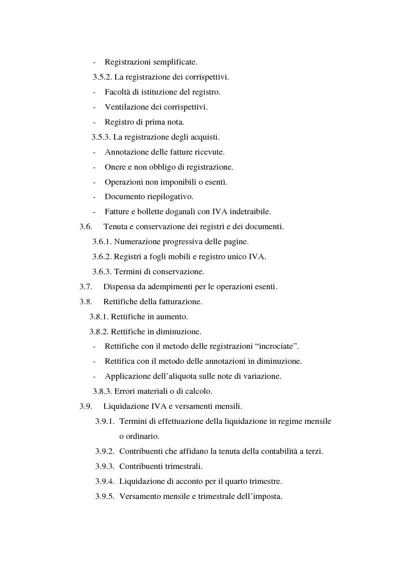 Indice della tesi: L'Iva negli enti locali: il caso del Comune di Ozieri, Pagina 5