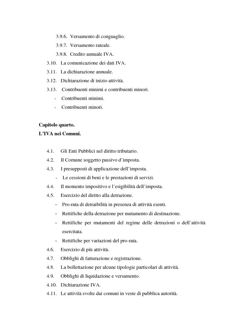 Indice della tesi: L'Iva negli enti locali: il caso del Comune di Ozieri, Pagina 6