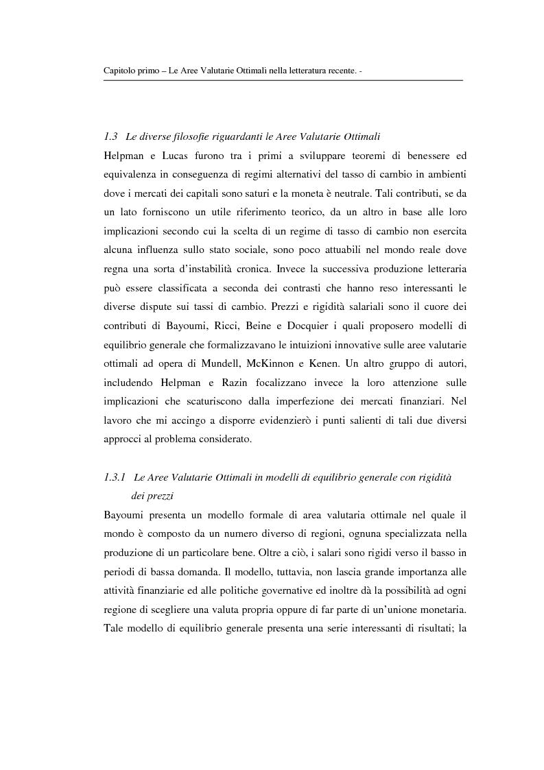 Anteprima della tesi: Le aree valutarie ottimali: la realtà dell'Ume, Pagina 13