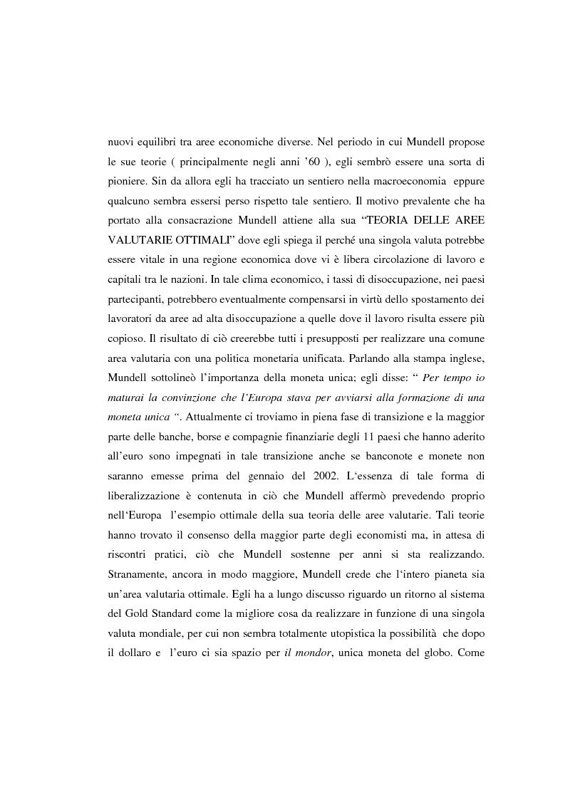 Anteprima della tesi: Le aree valutarie ottimali: la realtà dell'Ume, Pagina 2