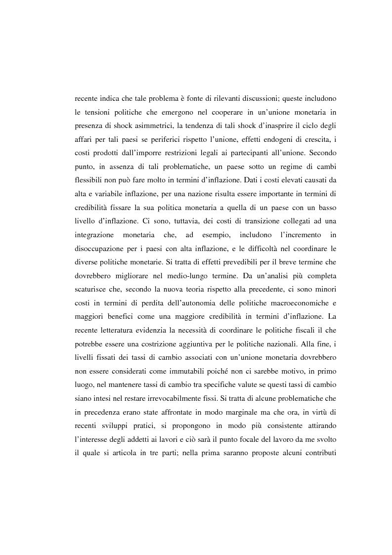 Anteprima della tesi: Le aree valutarie ottimali: la realtà dell'Ume, Pagina 4