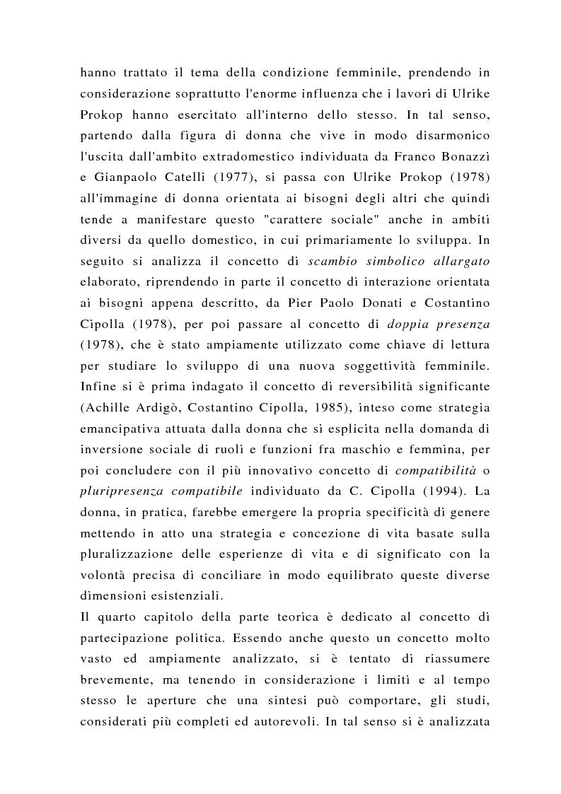 Anteprima della tesi: Un'altra politica? La politica al femminile, Pagina 3
