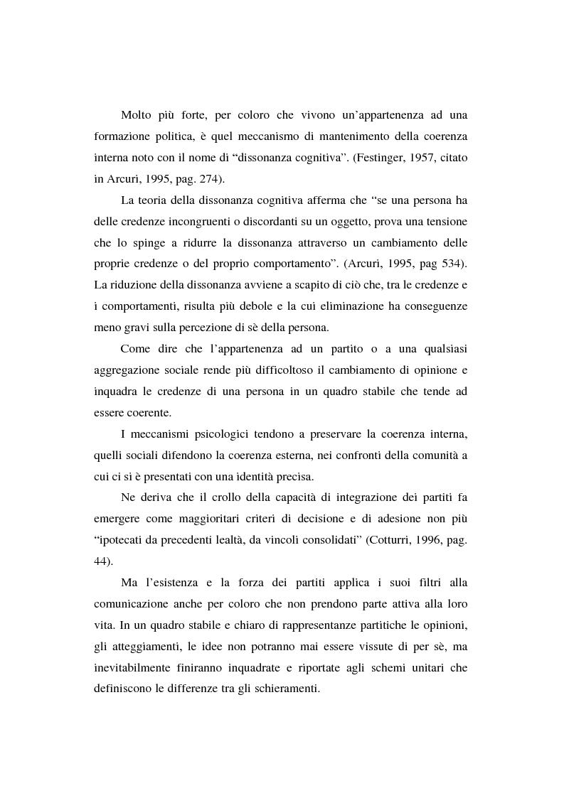 Anteprima della tesi: Dallo spot al messaggio autogestito. Tentativi di regolazione della comunicazione politica in Italia, Pagina 12