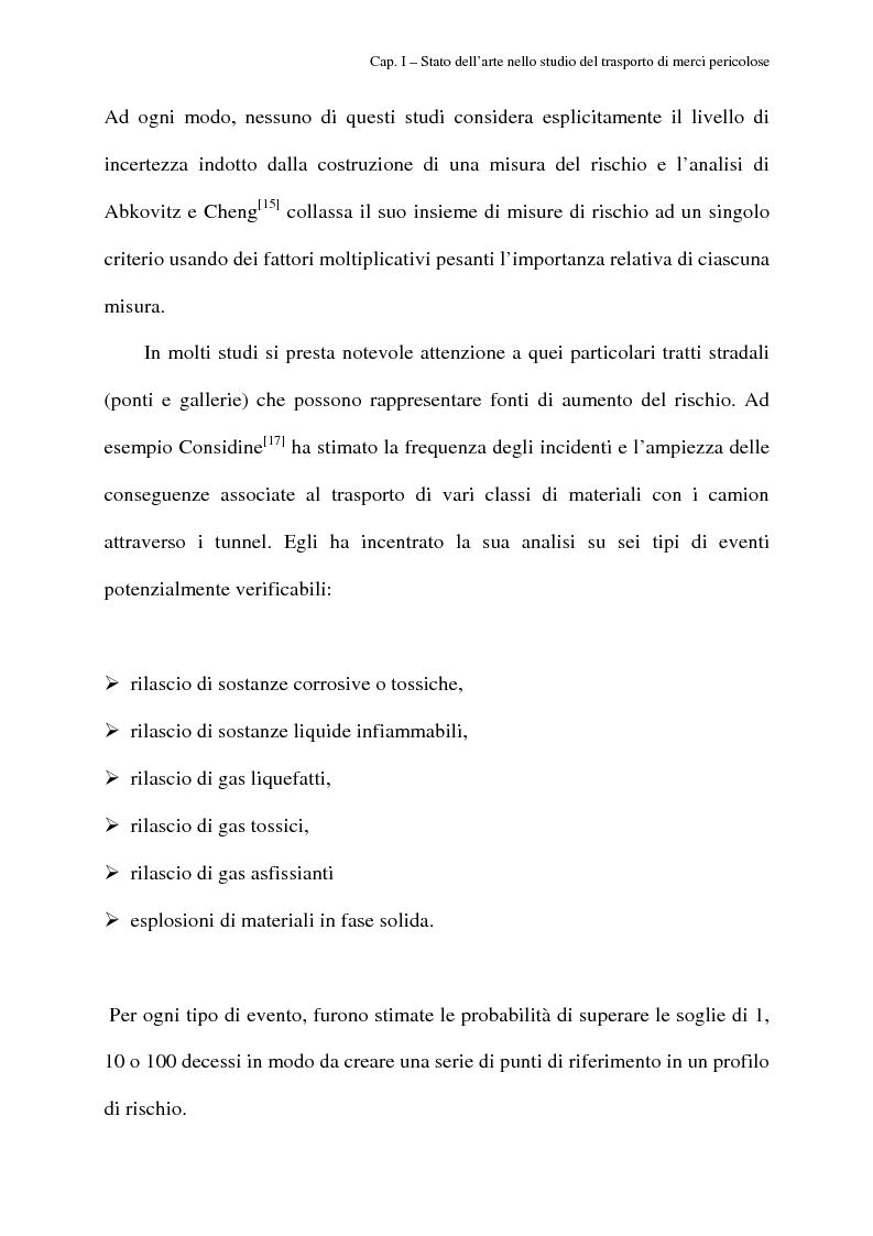 Anteprima della tesi: Modelli di routing e scheduling per il trasporto di merci pericolose, Pagina 11