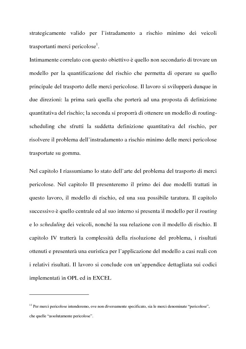 Anteprima della tesi: Modelli di routing e scheduling per il trasporto di merci pericolose, Pagina 2