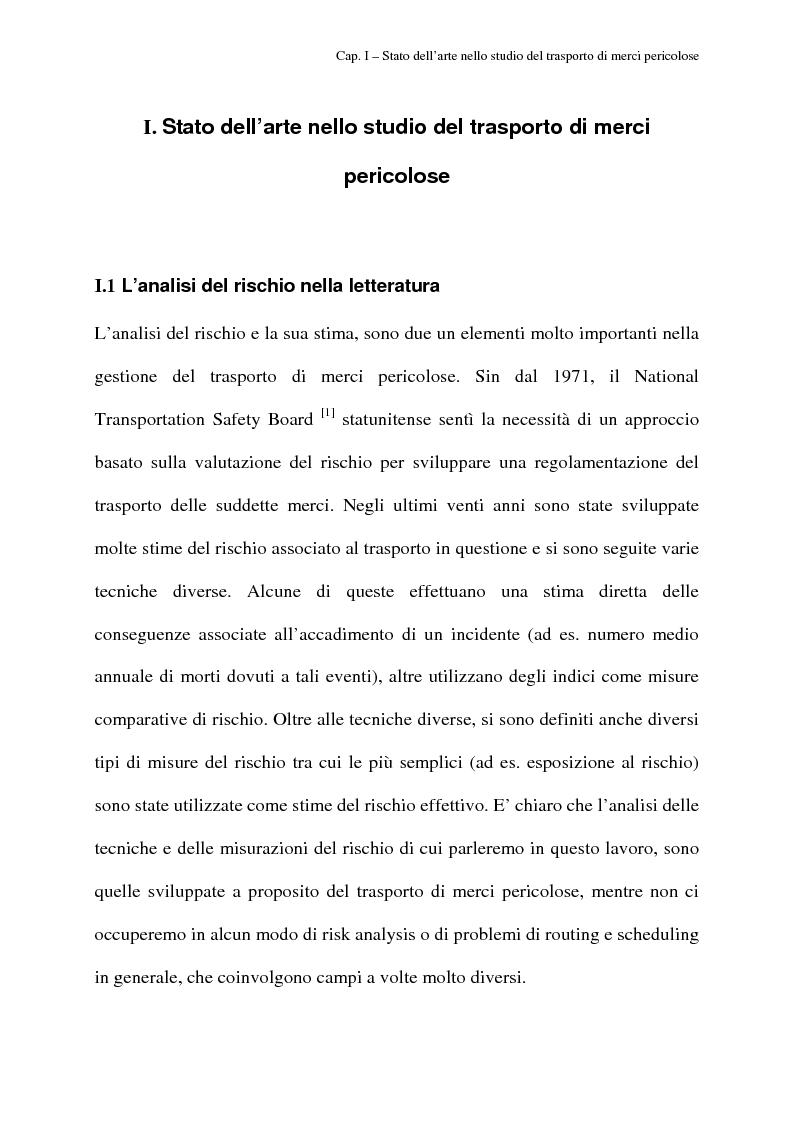 Anteprima della tesi: Modelli di routing e scheduling per il trasporto di merci pericolose, Pagina 4