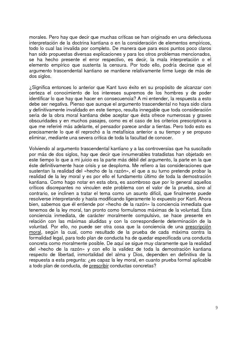 Anteprima della tesi: La moral Kantiana: Estudio Crítico., Pagina 4