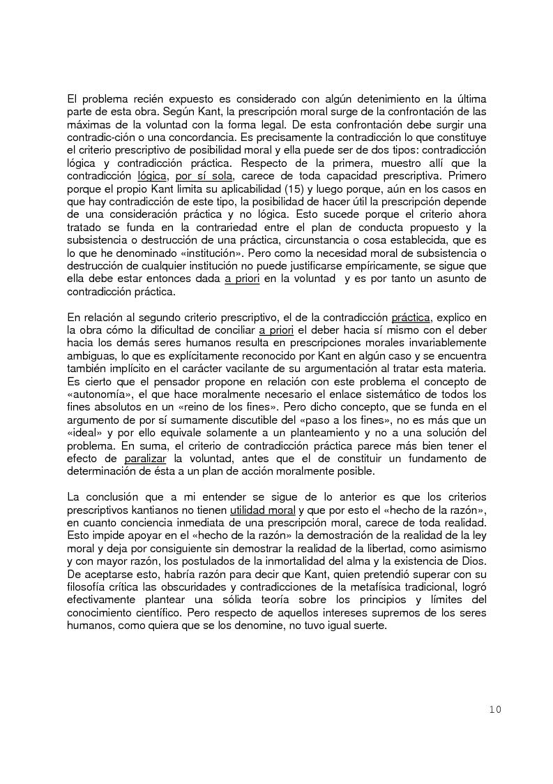 Anteprima della tesi: La moral Kantiana: Estudio Crítico., Pagina 5