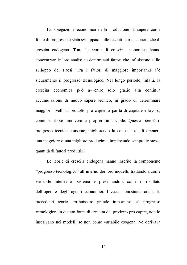 Anteprima della tesi: La produzione di conoscenza e i meccanismi istituzionali: le collaborazioni tra università e imprese, Pagina 10