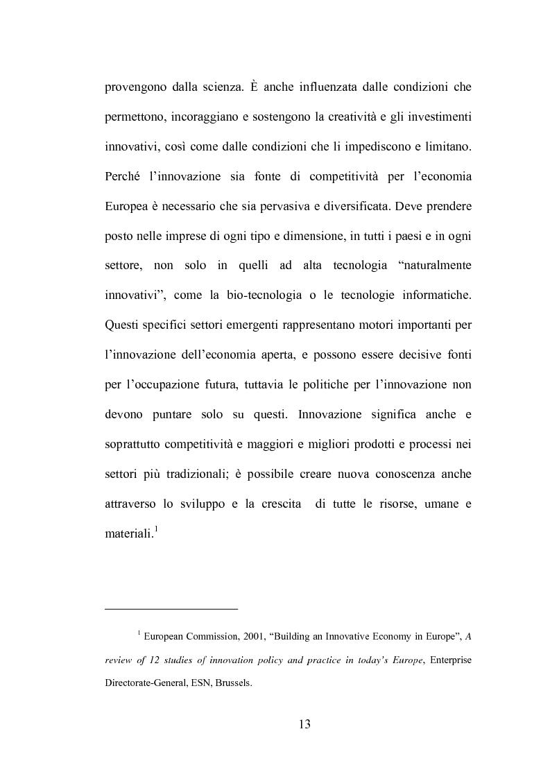 Anteprima della tesi: La produzione di conoscenza e i meccanismi istituzionali: le collaborazioni tra università e imprese, Pagina 9