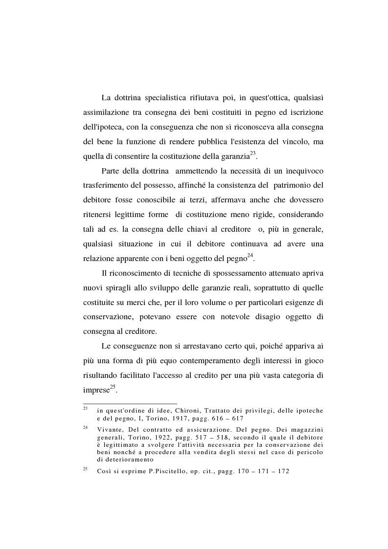 Anteprima della tesi: Le garanzie atipiche e il pegno rotativo, Pagina 15