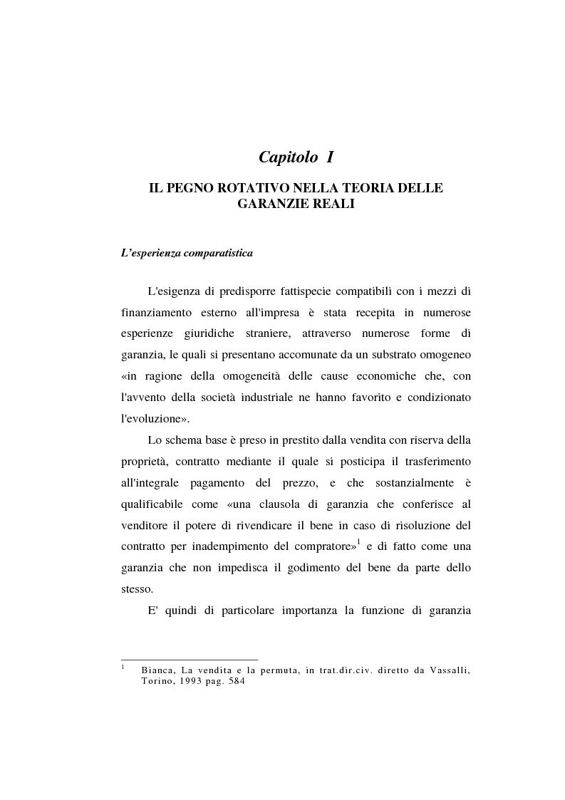 Anteprima della tesi: Le garanzie atipiche e il pegno rotativo, Pagina 3