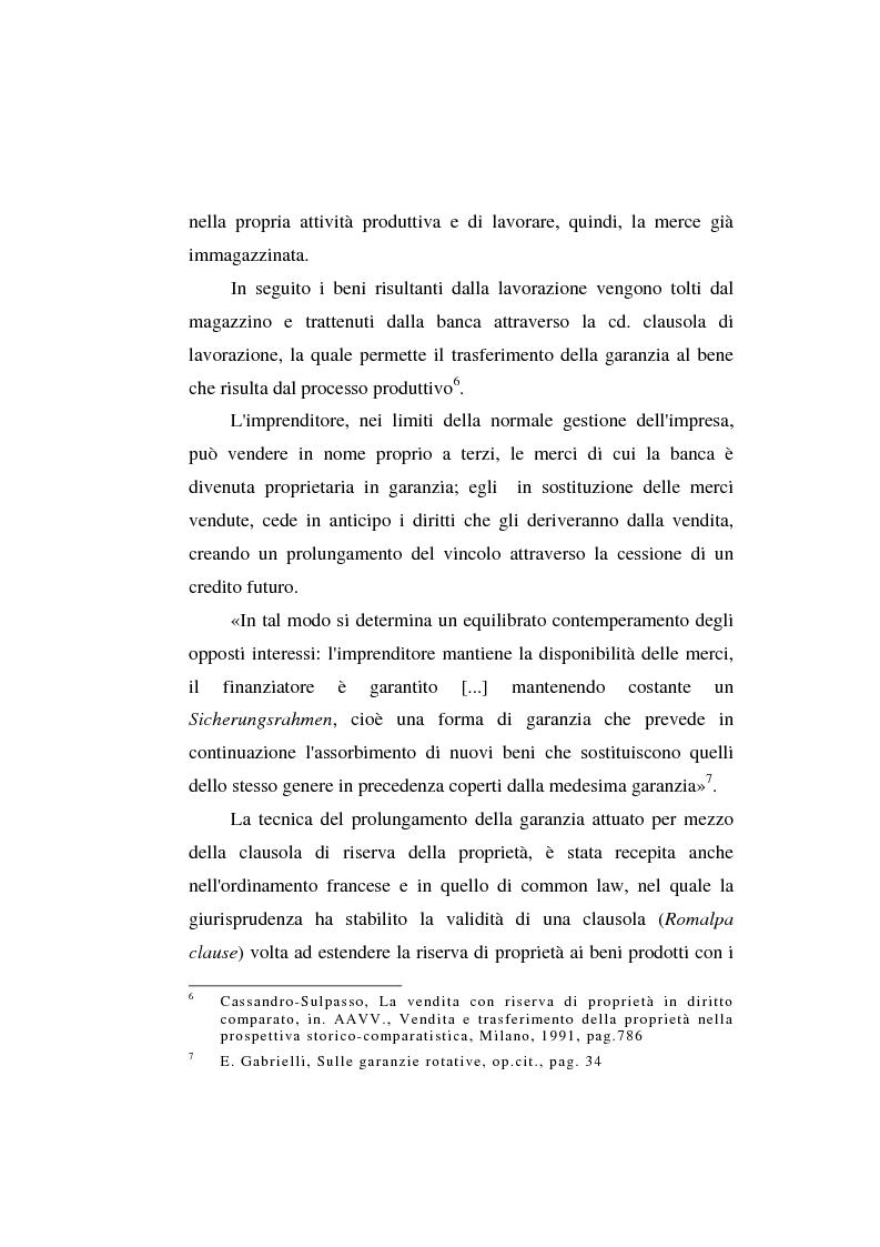 Anteprima della tesi: Le garanzie atipiche e il pegno rotativo, Pagina 6