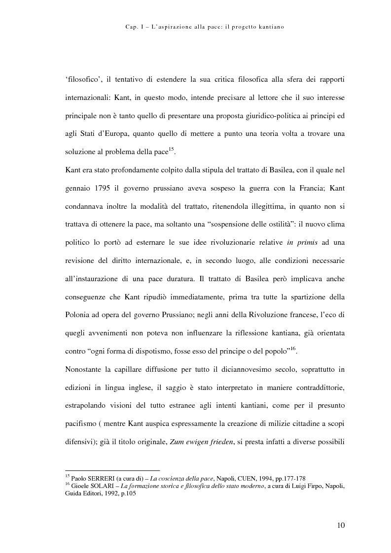 Anteprima della tesi: Alle origini della democrazia cosmopolitica: kant ed il problema della pace perpetua, Pagina 10