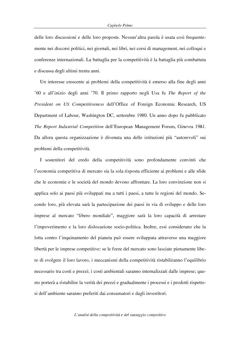 Anteprima della tesi: La competitività come elemento fondante dell'economia industriale. Il caso Coca-Cola, Pagina 11