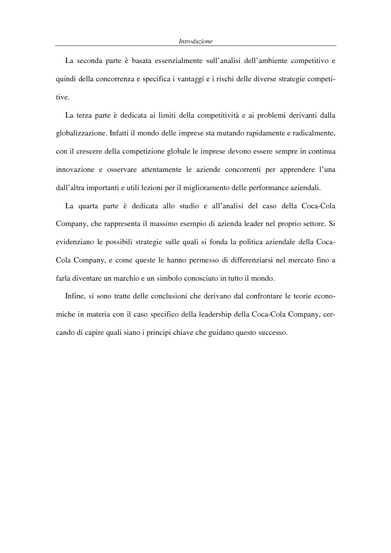 Anteprima della tesi: La competitività come elemento fondante dell'economia industriale. Il caso Coca-Cola, Pagina 4