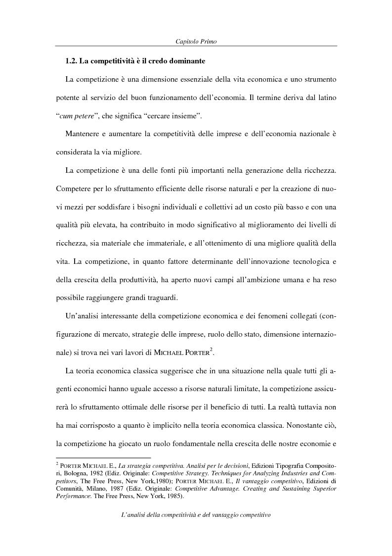 Anteprima della tesi: La competitività come elemento fondante dell'economia industriale. Il caso Coca-Cola, Pagina 9