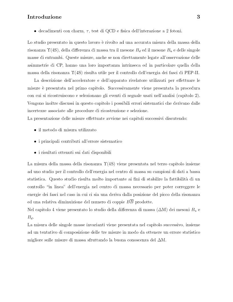 Anteprima della tesi: Misura della massa della risonanza Upsilon(4S) e delle masse dei mesoni B0 e B+, Pagina 3