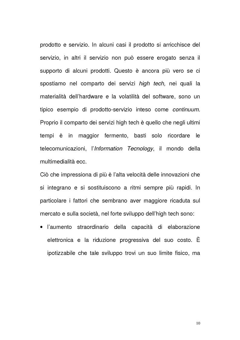 Anteprima della tesi: Il settore delle Tlc dal monopolio all'ipercompetizione. Il caso Wind, Pagina 7