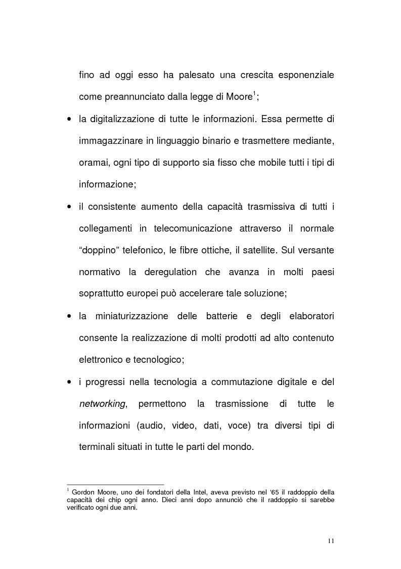 Anteprima della tesi: Il settore delle Tlc dal monopolio all'ipercompetizione. Il caso Wind, Pagina 8