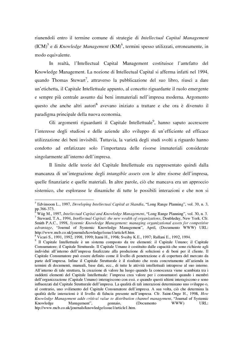 Anteprima della tesi: Knowledge Management: ripensare l'impresa come piattaforma di conoscenze, Pagina 11