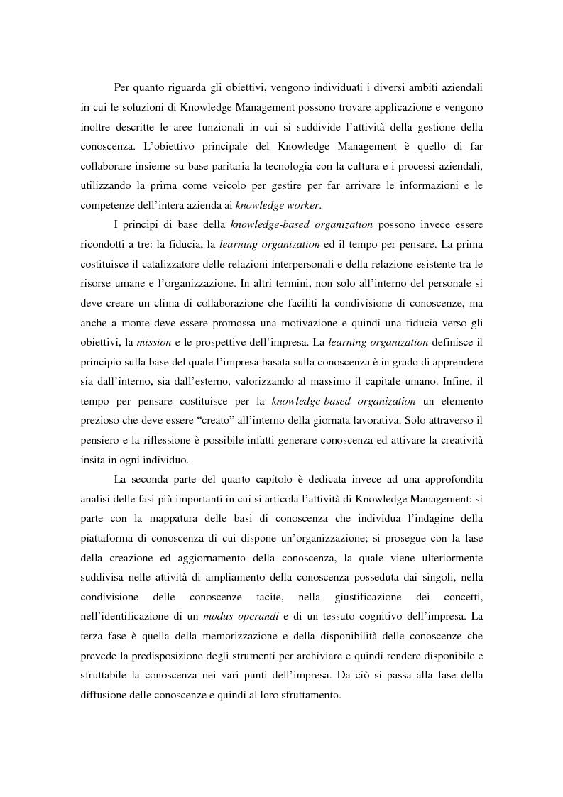 Anteprima della tesi: Knowledge Management: ripensare l'impresa come piattaforma di conoscenze, Pagina 5