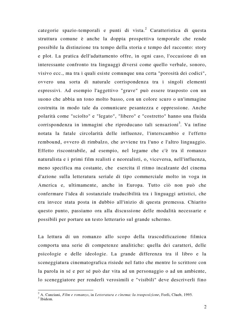 Anteprima della tesi: Dalla scrittura alle immagini. Porte aperte: il romanzo di L. Sciascia e il film di G. Amelio., Pagina 2