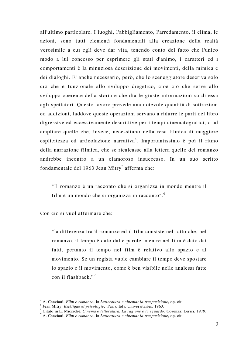 Anteprima della tesi: Dalla scrittura alle immagini. Porte aperte: il romanzo di L. Sciascia e il film di G. Amelio., Pagina 3