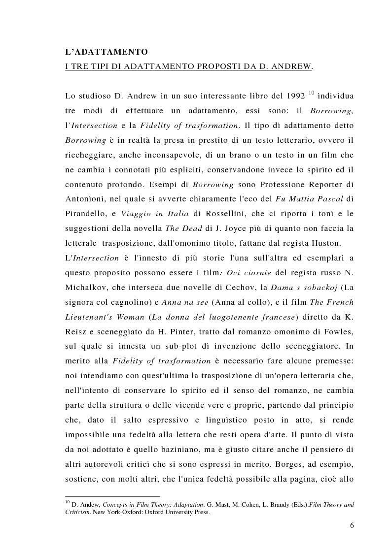 Anteprima della tesi: Dalla scrittura alle immagini. Porte aperte: il romanzo di L. Sciascia e il film di G. Amelio., Pagina 6