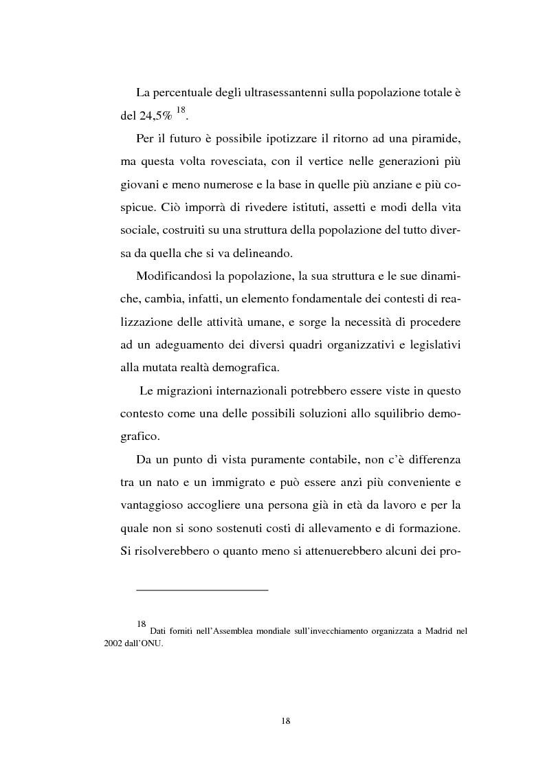 Anteprima della tesi: Gli immigrati e il mercato del lavoro in Italia, Pagina 14