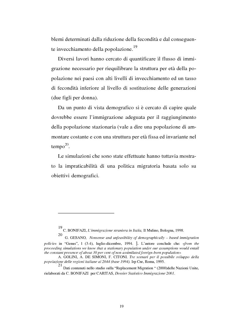 Anteprima della tesi: Gli immigrati e il mercato del lavoro in Italia, Pagina 15