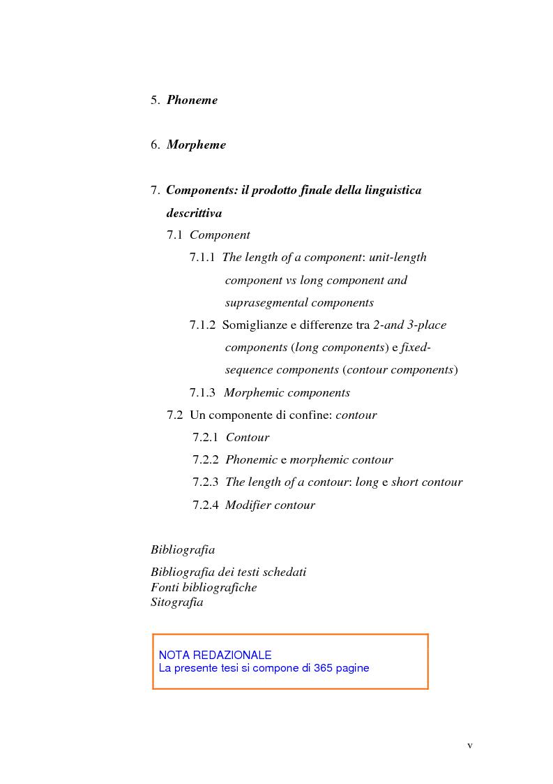 Indice della tesi: Il metalinguaggio di Zellig S. Harris nel periodo 1940-1951, Pagina 5