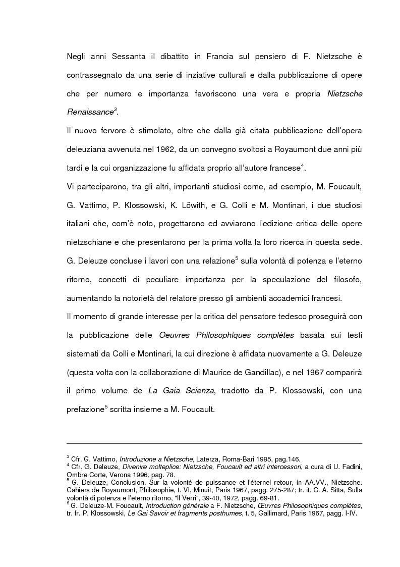 Anteprima della tesi: Gilles Deleuze e l'eterno ritorno di F. Nietzsche, Pagina 12