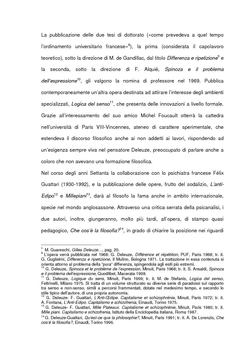 Anteprima della tesi: Gilles Deleuze e l'eterno ritorno di F. Nietzsche, Pagina 8