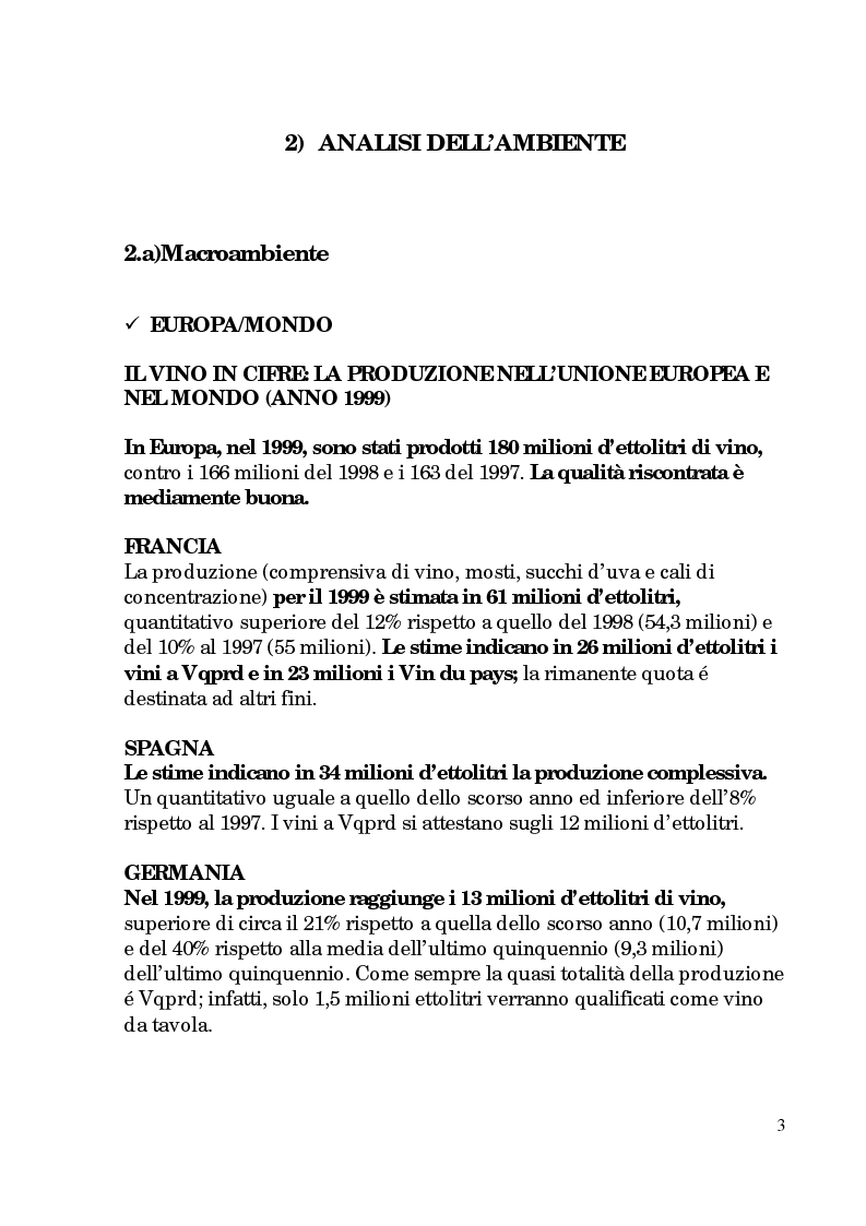 Anteprima della tesi: Progetto di promozione e valorizzazione del vino siciliano, Pagina 3