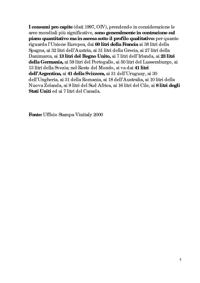 Anteprima della tesi: Progetto di promozione e valorizzazione del vino siciliano, Pagina 5