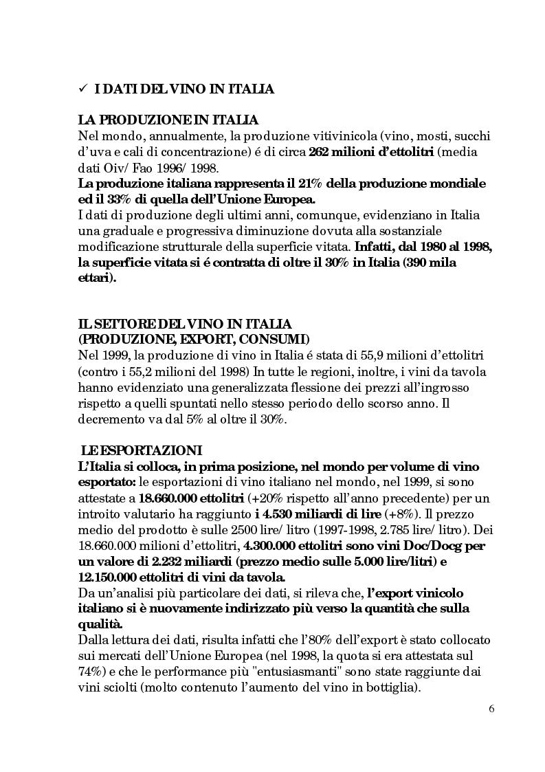 Anteprima della tesi: Progetto di promozione e valorizzazione del vino siciliano, Pagina 6