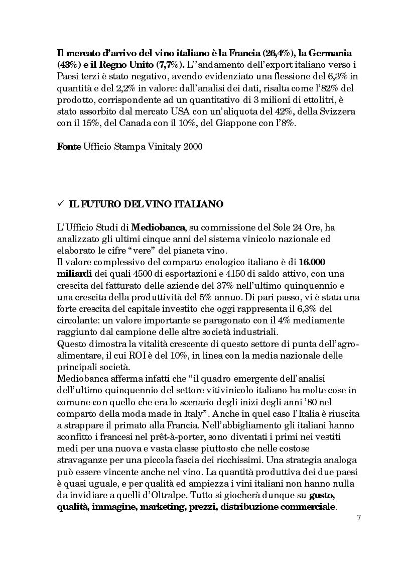 Anteprima della tesi: Progetto di promozione e valorizzazione del vino siciliano, Pagina 7