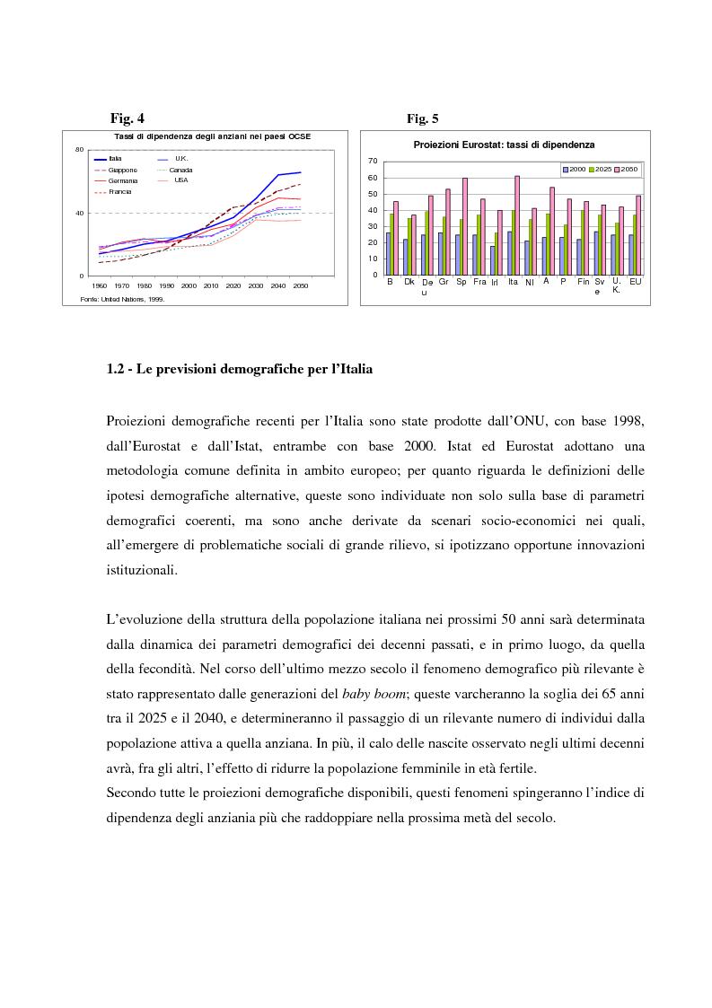 Anteprima della tesi: Invecchiamento della popolazione, stato sociale e assistenza agli anziani, Pagina 11